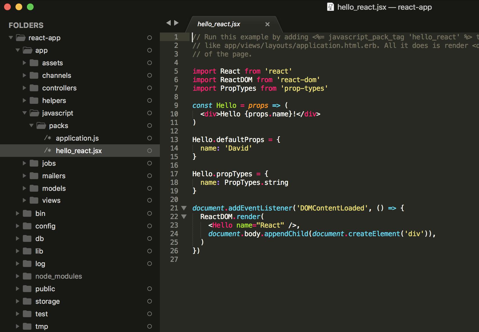 Javascript Packs Folder