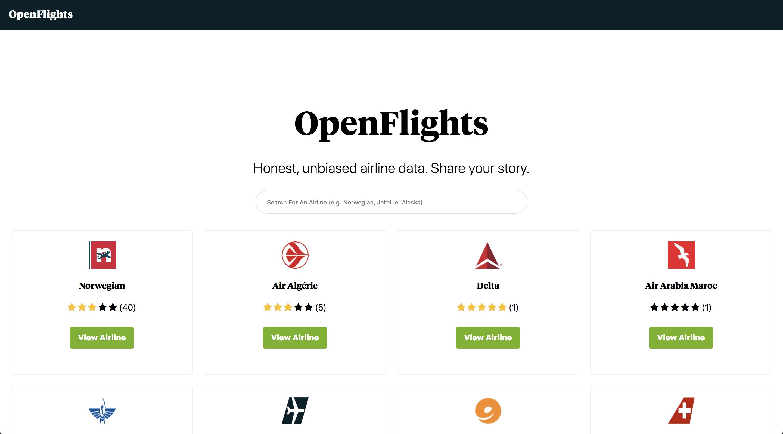Open Flights Index
